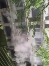 Pożar w opuszczonym hotelu w Orłowie