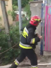 Jeszcze akcja strażaków (Pożar w Orłowie)