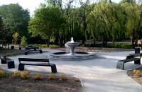 Fontanna w parku oruńskim