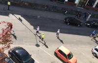 Maraton PZU z okien przy ul. Heweliusza