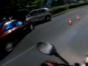 Skutki wypadku oczami motocyklisty ul. Płk. Dąbka w Gdyni