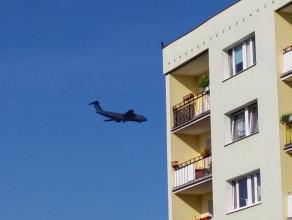 Samolot amerykańskiej armii nad Gdańskiem