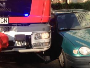 Symulacja utrudnionego dojazdu do pożaru