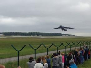 Samolot Lockheed C-5 Galaxy odleciał z Gdańska