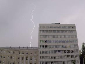 Burza z piorunami nad Gdynią