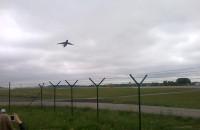 Samolot C5 Galaxy odlatuje z Gdańska