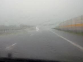Intensywne opady deszczu na autostradzie A1