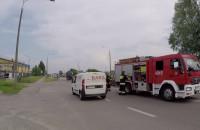 Skutki wypadku motocyklisty na Hutniczej