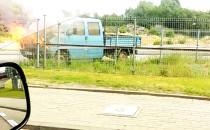 Pożar auta na Hutniczej w Gdyni