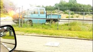 Pożar auta na ul. Hutniczej w Gdyni
