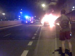 Pożar auta