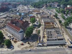 Forum Gdańsk rok po rozpoczęciu budowy
