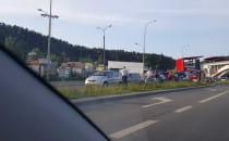 Zderzenie 4 aut na Słowackiego