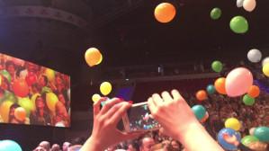 Wystrzały balonów na koncercie Andre Rieu