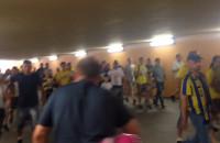 Kibice Arki w tunelu na Wzgórzu św. Maksymiliana