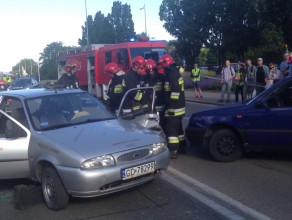Symulacja wypadku w centrum Gdyni