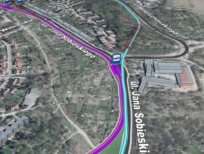 Trasowanie przebiegu Trasy GP-W (Nowej Politechnicznej)