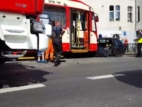Poważny wypadek na Jana z Kolna w Gdańsku