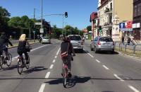 Samochody miedzy rowerami - WPR Oliwa