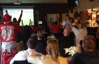 Radość po zwycięstwie Polski w meczu z Irlandią Północną