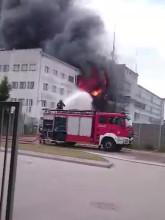 Pożar magazynów w Gdyni