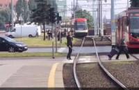 Zepsuty tramwaj przy Bramie Oliwskiej