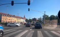 Korki w centrum Gdańska, kierowcy...