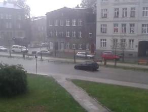 Tak wygląda Ulica Łąkowa po ulewie