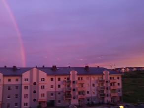Wieczorna tęcza nad Gdańskiem