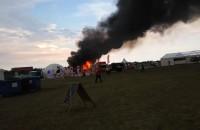 Pożar foodtrucka na Open'erze