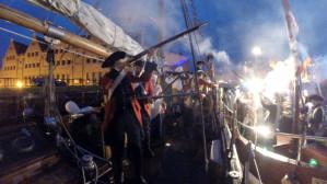 Bitwa morska na Motławie podczas  Baltic Sail 2016