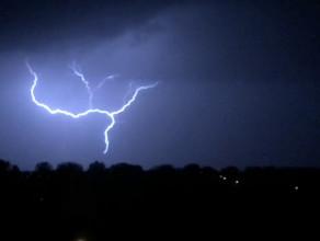 Nocna burza nad Gdańskiem