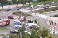Akcja służb przy wypadku na Chłopskiej