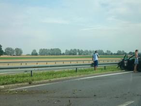 Wypadek na A1 w kierunku Torunia