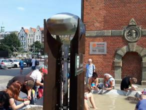 Bursztynowa fontanna w centrum Gdańska
