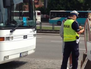 Policja kontroluje autokar w Gdańsku