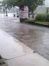 Stryjewskiego zalana ale przejezdna