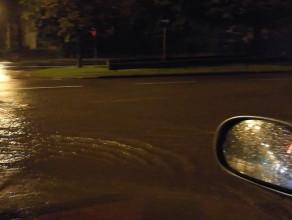 Grunwaldzka z Sopotu do Gdańska zalana