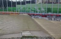 Przelew wody ze zbiornika Srebrzysko