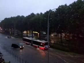 Zalana ulica Kartuska, okolice Paska