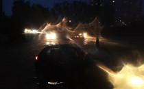Ulica Olsztyńska utonęła.