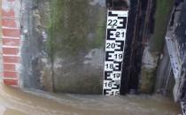 Poziom wody w Kanale Raduni po ulewie. Na...