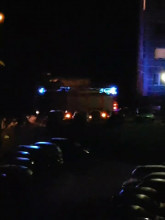 Prawdopodobnie pożar - ul. Karpacka w Gdańsk Oliwa