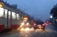 Zatopione tramwaje na Kartuskiej
