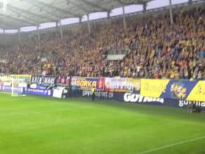 Taki był doping dla Arki w pierwszym meczu po powrocie do Ekstraklasy