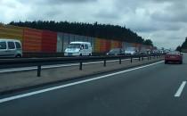 Ogromny korek przed bramkami wjazdowymi na A1