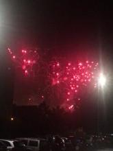 Fajerwerki przy stadionie