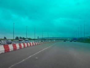 Wjazd z autostrady A1 do Gdańska zatkany