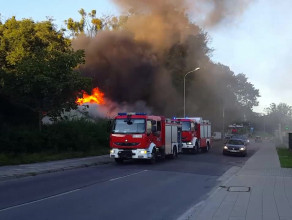 Pożar domu przy Słowackiego
