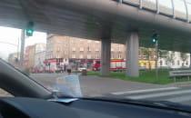 Straż pożarna na ulicy Grunwaldzkiej na...